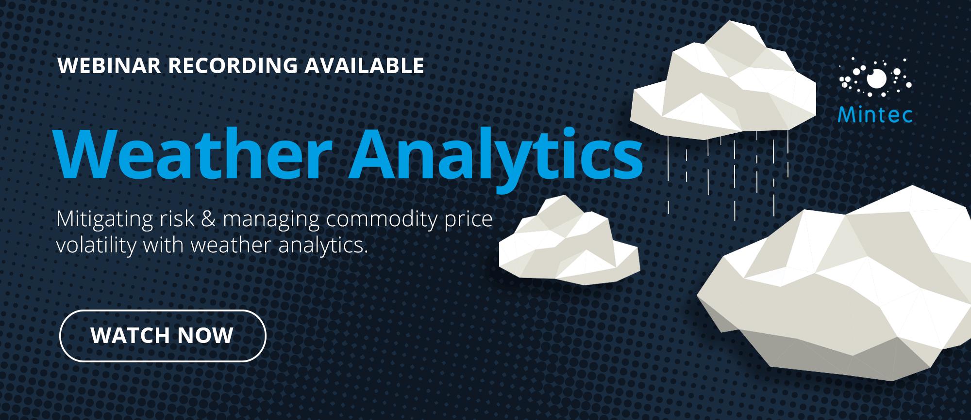 Mintec Webinar: Weather Analytics
